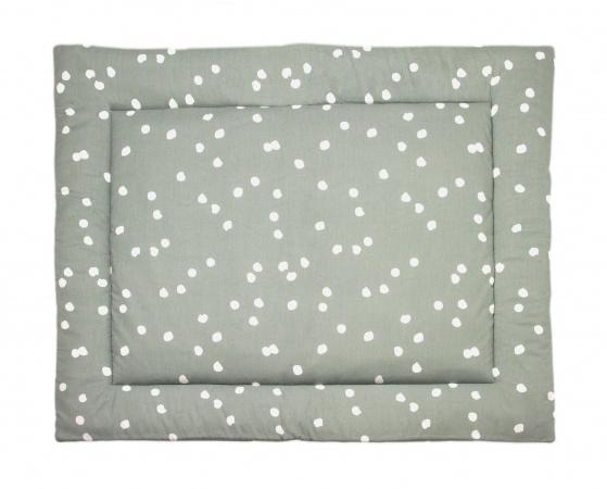 Briljant Boxkleed Spots Stonegreen<br> 80 x 100