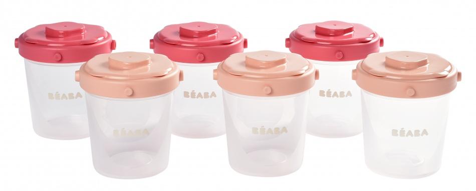 Béaba Portion Clip Set 200ml<br> Powder Pink