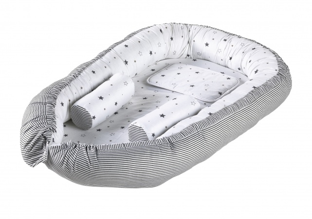 Schardt Babynest Little Stars Grey