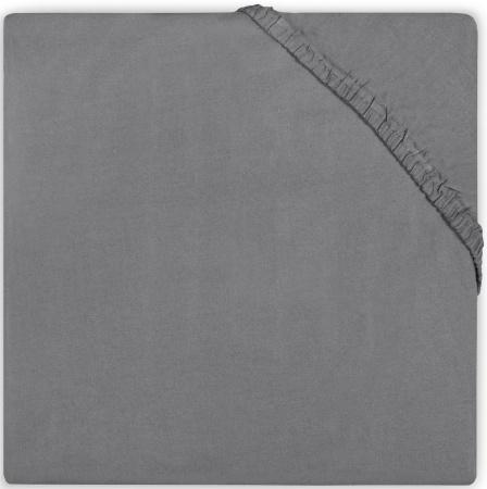 Babydump Collectie Juniorhoeslaken Katoen Dark Grey   70 x 140 cm