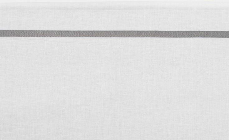 Meyco Ledikantlaken Bies Grijs<br> 100 x 150 cm