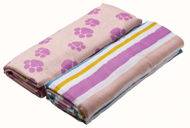 Briljant Swaddle Jungle Dusk Pink