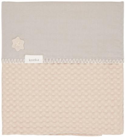 Koeka Wiegdeken Wafel/Flanel Antwerp Sand/Misty Grey