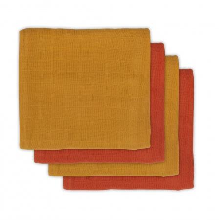 Jollein Bamboe Multidoek Small 70x70 Mustard Rust 4pck