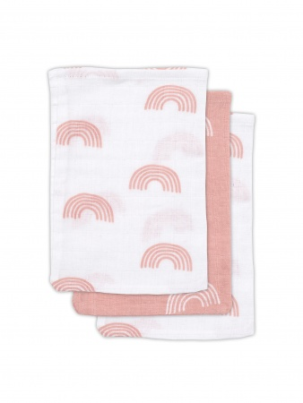 Jollein Hydrofiele Washandjes Rainbow Blush Pink 3pck
