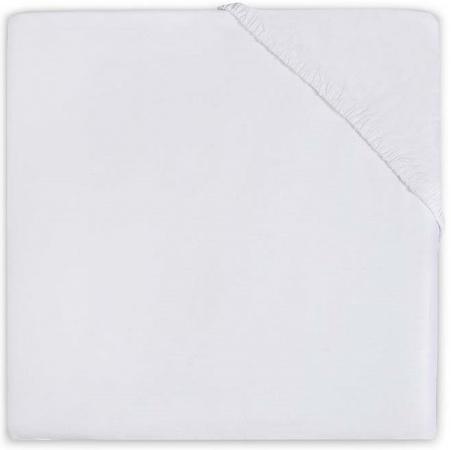 Jollein Hoeslaken Boxmatras Jersey White 75 x 95 cm