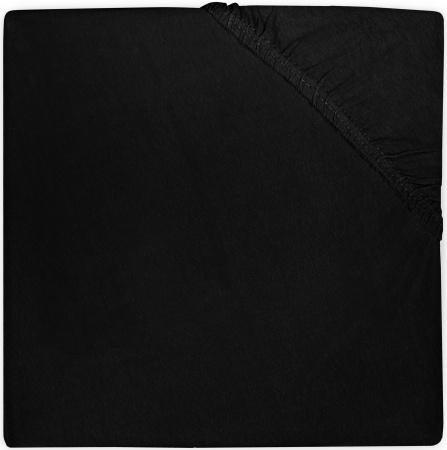 Jollein Hoeslaken Boxmatras Jersey Black 75 x 95 cm
