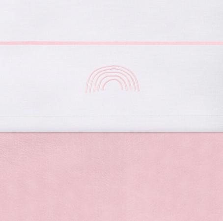 Jollein Laken Rainbow Blush <br>120 x 150 cm