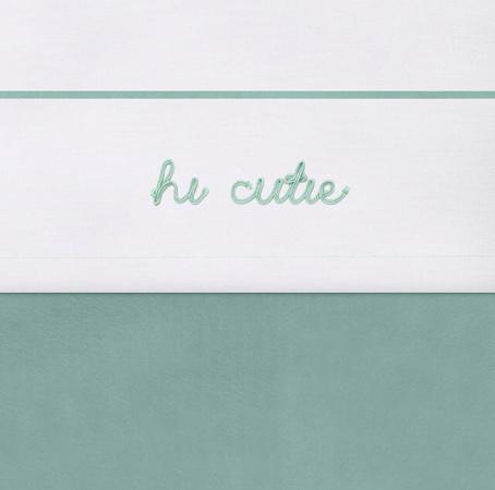 Jollein Ledikantlaken Hi Cutie Ash Green <br>120 x 150 cm