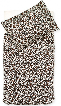 Jollein Dekbedovertrek Leopard Natural  100 x 140 cm