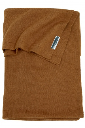 Meyco Ledikantdeken Knit Basic Camel<br> 100 x 150 cm