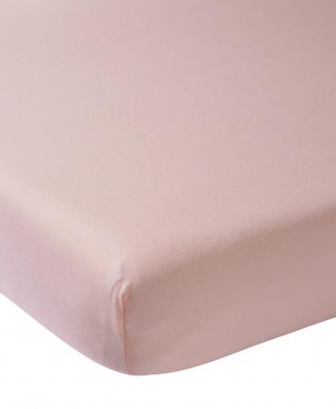 Meyco Juniorhoeslaken Jersey Oudroze <br/ >70 x 140/150 cm