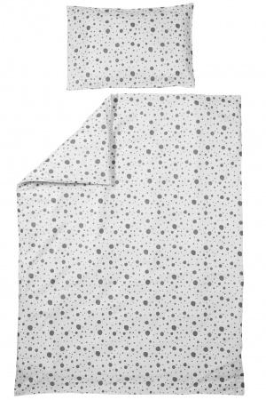 Meyco Juniorovertrek Dots Grijs <br> 120 x 150 cm