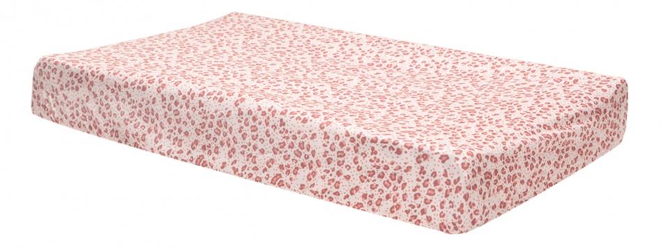 Bébé-Jou Aankleedkussenhoes Jersey Leopard Pink