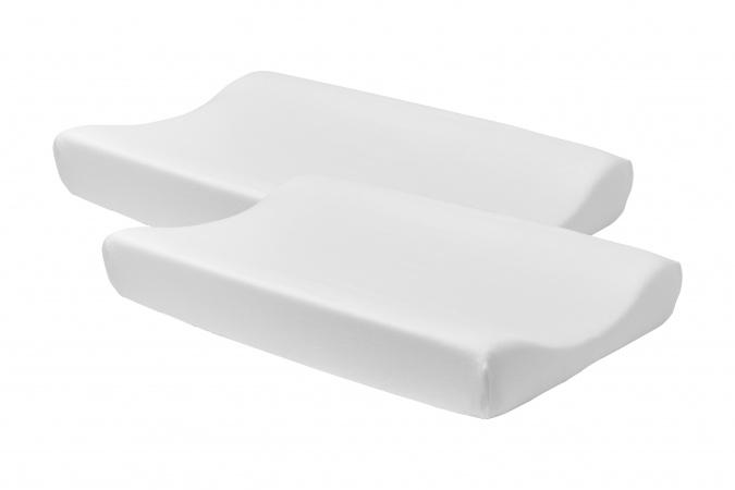 Meyco Aankleedkussenhoes 2pck Basic Jersey Wit