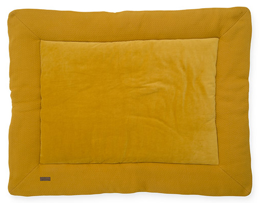 Jollein Boxkleed Brick Velvet Mustard<br> 80 x 100 cm