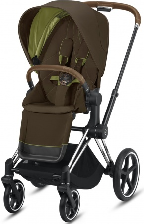 Cybex Priam Combi Chrome Brown/Chrome Khaki Green/Khaki Brown