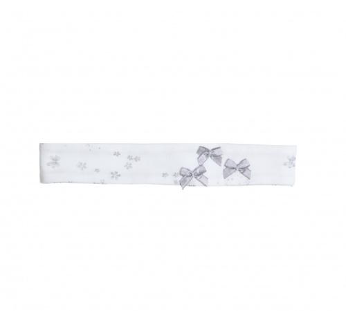 Gymp Haarband Silvie White / Silver