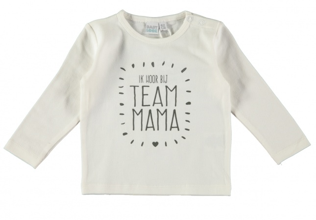 Babylook T-Shirt Team Mama Offwhite