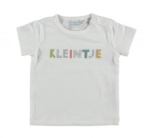 Babylook T-Shirt Korte Mouw Kleintje White