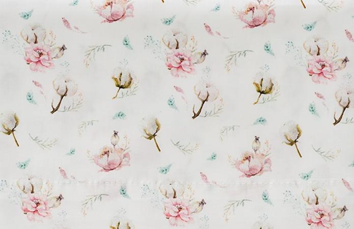 Cottonbaby Ledikantlaken Cottonflower Wit <br/ > 120 x 150 cm