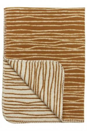 Meyco Ledikantdeken Stripe Camel/Offwhite <br> 120 x 150 cm