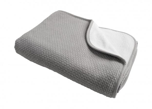 Ledikantdeken Winter Pique Mid Grey <br >100 x 150 cm