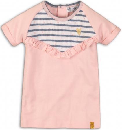 Dirkje Jurk Korte Mouw Stripe Light Pink