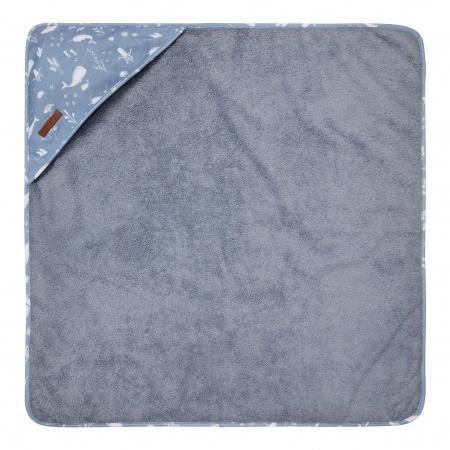 Little Dutch Badcape Ocean Blue <br> 75 x 75 cm