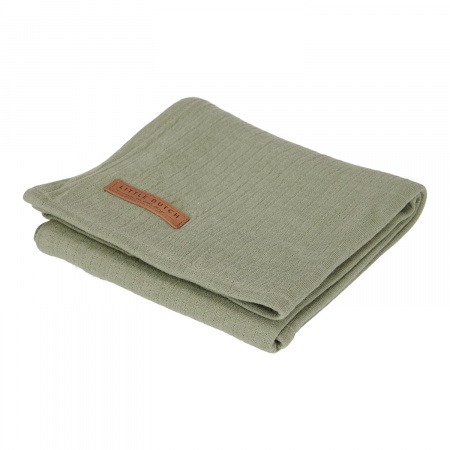 Little Dutch Swaddle Pure Olive <br> 120 x 120