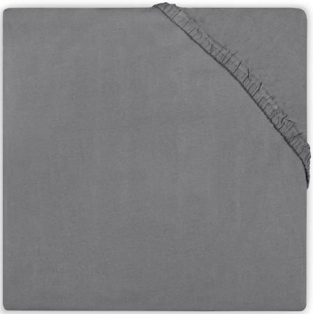 Jollein Ledikanthoeslaken Katoen  60 x 120 cm   Dark Grey