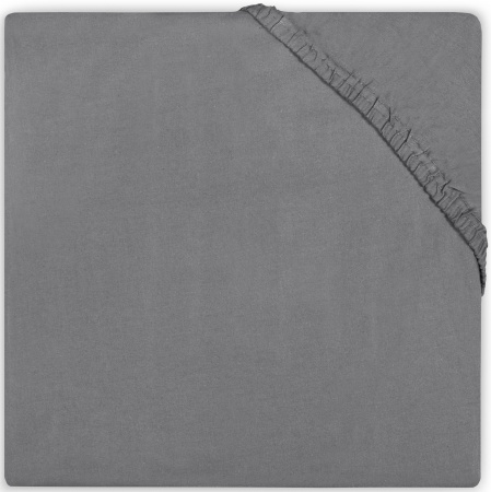 Jollein Juniorhoeslaken Katoen <br> 70 x 140 cm Dark Grey