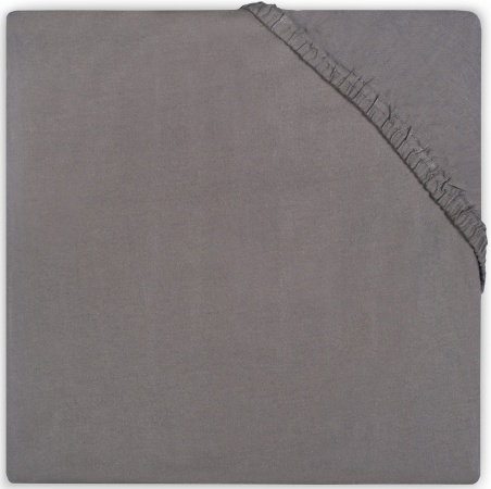 Jollein Wieghoeslaken Jersey <br>  40 x 80/90 cm Dark Grey