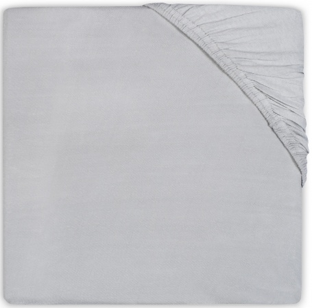 Jollein Ledikanthoeslaken Jersey <br>60 x 120 cm Soft Grey