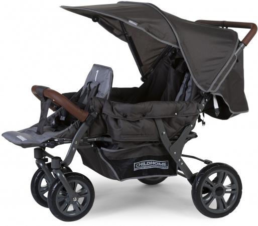 Childhome Triplet Wandelwagen Antraciet + RC