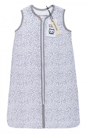 Briljant Slaapzak Zomer Hydrofiel Minimal Dots White/Grey 70cm