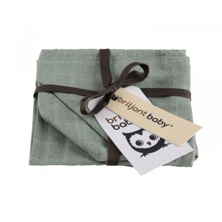 Briljant Monddoek Uni Stone Green 3-Pack
