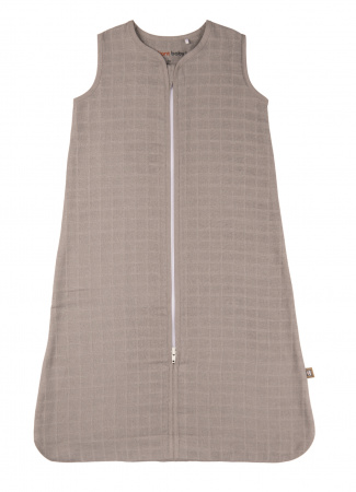 Briljant Slaapzak Zomer Hydrofiel Uni Grey 70cm