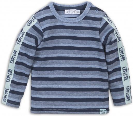Dirkje T-Shirt Stripes Blue Melee Navy