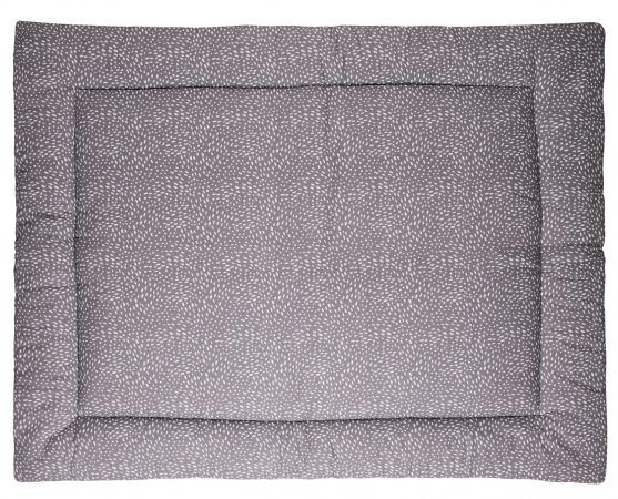 Briljant Boxkleed Minimal Dots Grey<br> 80 x 100