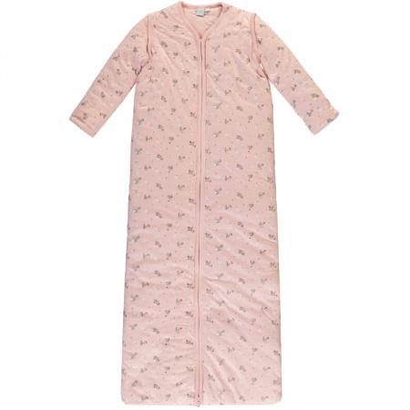Babylook Slaapzak Winter Afritsbare Mouw Flower Silver Pink 110cm