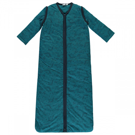 Babylook Slaapzak Winter Afritsbare Mouw Dino Blue Coral 110cm