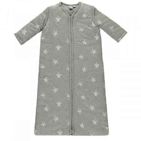 Babylook Slaapzak Winter Afritsbare Mouw Star Grey Melange 110cm