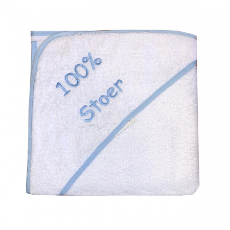 La Petite Couronne Badcape 100% Stoer White Blue