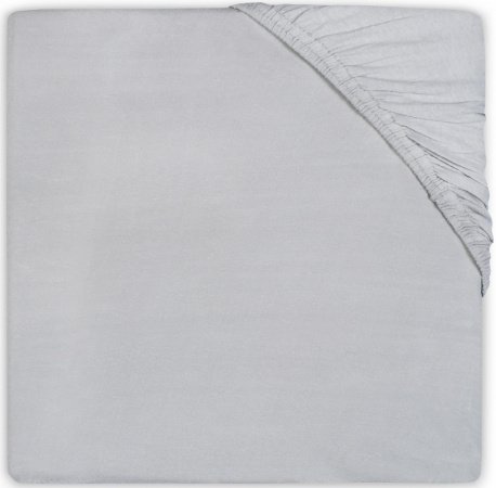 Jollein Ledikanthoeslaken Katoen <br> 60 x 120 cm  Soft Grey