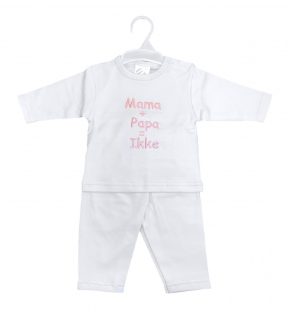 La Petite Couronne 2-Delige Set Mama+Papa White Pink
