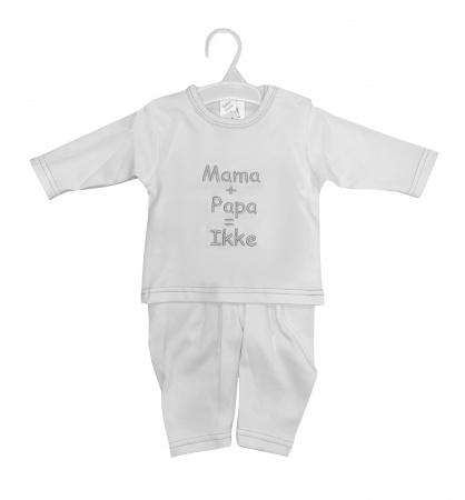 La Petite Couronne 2-Delige Set Mama+Papa White Silver