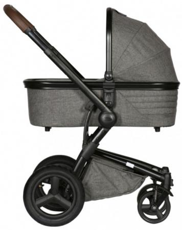 Kidsriver Daya Kinderwagen Zwart-Donkerbruin/Grijs Melange