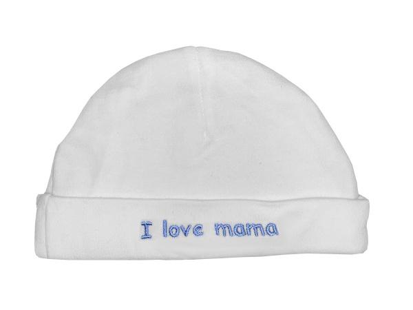 La Petite Couronne Muts I Love Mama White Blue
