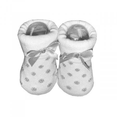La Petite Couronne Sokjes Dots Glitter White Newborn